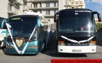 ΣΤΟ ΥΠΕΡΑΣΤΙΚΟ ΚΤΕΛ ΧΑΝΙΩΝ:  Στολισμένα λεωφορεία για γάμο