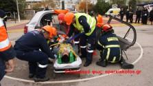 ΑΠΟ ΠΥΡΟΣΒΕΤΙΚΗ ΥΠΗΡΕΣΙΑ ΚΑΙ ΕΚΑΒ ΣΤΑ ΧΑΝΙΑ:  Επίδειξη άμεσης επέμβασης σε τροχαία δυστυχήματα