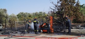 ΣΤΗΝ ΑΓΙΑ ΧΑΝΙΩΝ:    Πυρκαγιά απείλησε επιχείρηση ενώ κάηκαν οχήματα και δέντρα