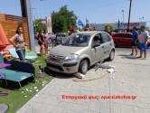Επιβατικό όχημα… κατέληξε σε αυλή επιχείρησης!