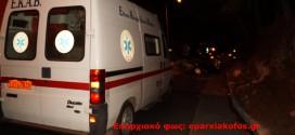 Πρόσκρουση και ανατροπή οχήματος χωρίς τραυματισμό