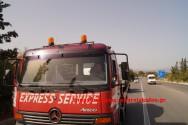 Τροχαίο ατύχημα στη νέα εθνική οδό στο ύψος του Πλατανιά