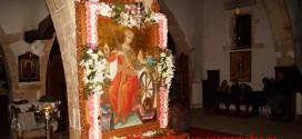 Πανηγυρικός Εσπερινός της Αγίας Αικατερίνης στο Σιναϊτικό Μοναστήρι στα Περιβόλια