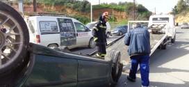 Αναποδογύρισμα οχήματος με τραυματισμό στα Χανιά