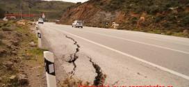 Καθίζηση στην εθνική οδό μεταξύ Νοπηγίων και Κολυμπαρίου Κισάμου