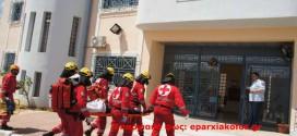 Σενάριο πυρκαγιάς με άμεση επέμβαση στο κατάστημα κράτησης «Κρήτη 1» στα Χανιά