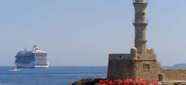 Αγκυροβόλησε αρόδου στο λιμάνι των Χανίων το Κ/Ζ Oceania Riviera με 1.094 επιβάτες