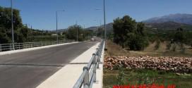 Σύντομα στην κυκλοφορία η νέα γέφυρα στο Πατελάρι
