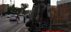 Τραυματισμός από πρόσκρουση Ι.Χ. αυτοκινήτου σε στύλο στα Χανιά (Και βίντεο)