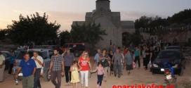 Εκατοντάδες προσκυνητές στον πανηγυρικό εσπερινό της Παναγίας της Γιάτρισσας (Και βίντεο)