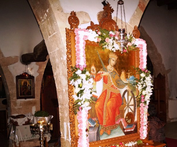 Πανηγυρικά εορτάσθηκε η Αγία Αικατερίνη και στο νομό Χανίων