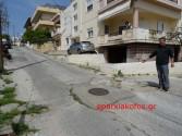 Μια επικίνδυνη κατάσταση στην οδό Τζοτζολάκη