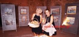 ΣΤΗΝ ΠΥΛΗ ΣΑΜΠΙΟΝΑΡΑ   –  Εγκαινιάσθηκε η έκθεση της Πολωνής  ζωγράφου Renata Kusik Plonka