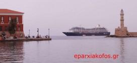 Αρόδου από το Ενετικό λιμάνι Χανίων το κρουαζιερόπλοιο Azamara