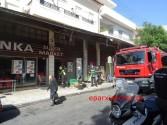 Ανησυχία στο κέντρο των Χανίων από πυρκαγιά σε σούπερ μάρκετ (Και βίντεο)
