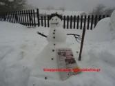 Πάνω από ένα μέτρο το χιόνι στο οροπέδιο του Ομαλού
