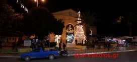 ΣΤΗΝ ΠΛΑΤΕΙΑ ΔΗΜΟΤΙΚΗΣ ΑΓΟΡΑΣ ΧΑΝΙΩΝ  Φωταγωγήθηκε το δένδρο των Χριστουγέννων