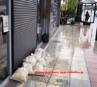 Οι καταρρακτώδεις βροχές έπληξαν επιχείρηση στα Χανιά