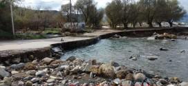 Επικίνδυνη η εκβολή του ποταμού ανατολικά στα Νοπήγια