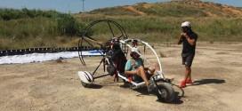 Απογείωση από χωράφι στα Χανιά με Para-trike (Και βίντεο)