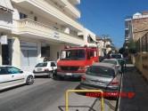 """Πυρκαγιά στην αυλή του Β"""" ΕΠΑΛ Χανίων"""