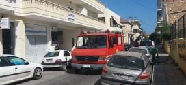 Πυρκαγιά στην αυλή του Β' ΕΠΑΛ Χανίων