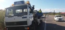 Τροχαίο ατύχημα υλικών ζημιών στην εθνική οδό Χανίων Κισάμου