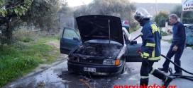ΣΤΟ ΚΟΚΚΙΝΟ ΜΕΤΟΧΙ ΧΑΝΙΩΝ – Πυρκαγιά επιβατικού οχήματος σε κίνηση