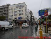 Ήρεμη θάλασσα και ψιλή βροχή στα Χανιά