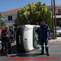 Μεγάλες υλικές ζημιές σε τροχαίο ατύχημα χωρίς τραυματισμό στα Χανιά