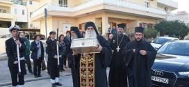 ΣΤΗΝ ΕΝΟΡΙΑ ΑΓΙΟΥ ΧΑΡΑΛΑΜΠΟΥΣ  Με λαμπρότητα υποδέχτηκαν τα Ιερά Λείψανα των Τριών Ιεραρχών