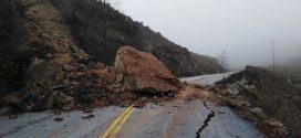 Βράχος με τεράστιο όγκο αποκολλήθηκε από πλαγιά στα Τεμένια