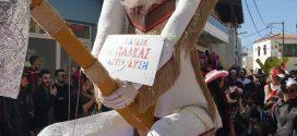 Εντυπωσιακή η καρναβαλική… φάλαγγα στην κωμόπολη των Καλυβών