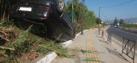Τροχαίο ατύχημα με ανατροπή Ι.Χ.Ε. οχήματος στα Χανιά