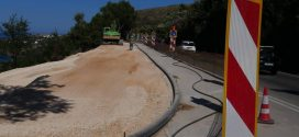 Στα τελειώματα η αποκατάσταση στην καθίζηση της εθνικής οδού Χανίων – Ρεθύμνου (Και βίντεο)
