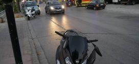 Τροχαίο ατύχημα με υλικές ζημιές και τραυματισμό οδηγού