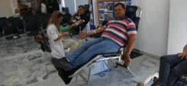Εθελοντική αιμοδοσία από την Ένωση Αστυνομικών Χανίων