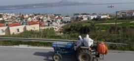 Ψεκασμός στη Δημοτική Περιφέρεια του Δήμου Αποκορώνου για τον κορωνοϊό (Και βίντεο)