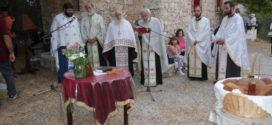 Εσπερινός στο εκκλησάκι της Αγίας Σοφίας στο ομώνυμο Ίδρυμα στους Αγίους Πάντες