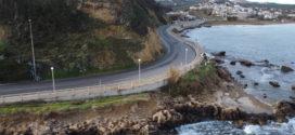 Ένα επικίνδυνο τμήμα της παλαιάς εθνικής οδού στον Σταλό