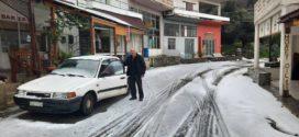 Τα πρώτα χιόνια στα Εννιά Χωριά (Και βίντεο)
