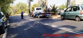 Τροχαίο ατύχημα υλικών ζημιών στο Ναυτικό Νοσοκομείο Κρήτης