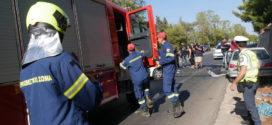 Σφοδρή σύγκρουση δύο Ι.Χ.Ε. οχημάτων  στην εθνική οδό με σοβαρούς τραυματισμούς