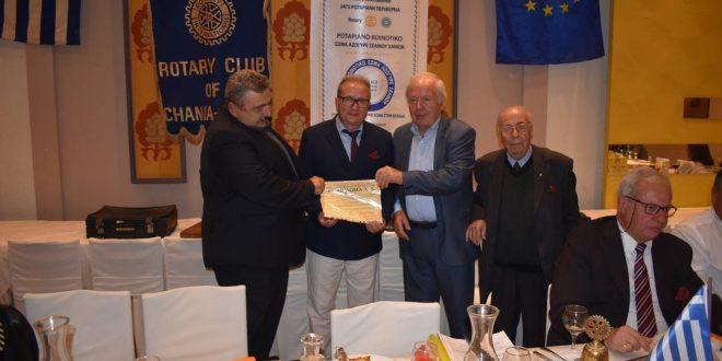 Πανηγυρική συνεστίαση Ροταριανού Ομίλου Χανίων με ομιλία για τουριστική προβολή της Κρήτης
